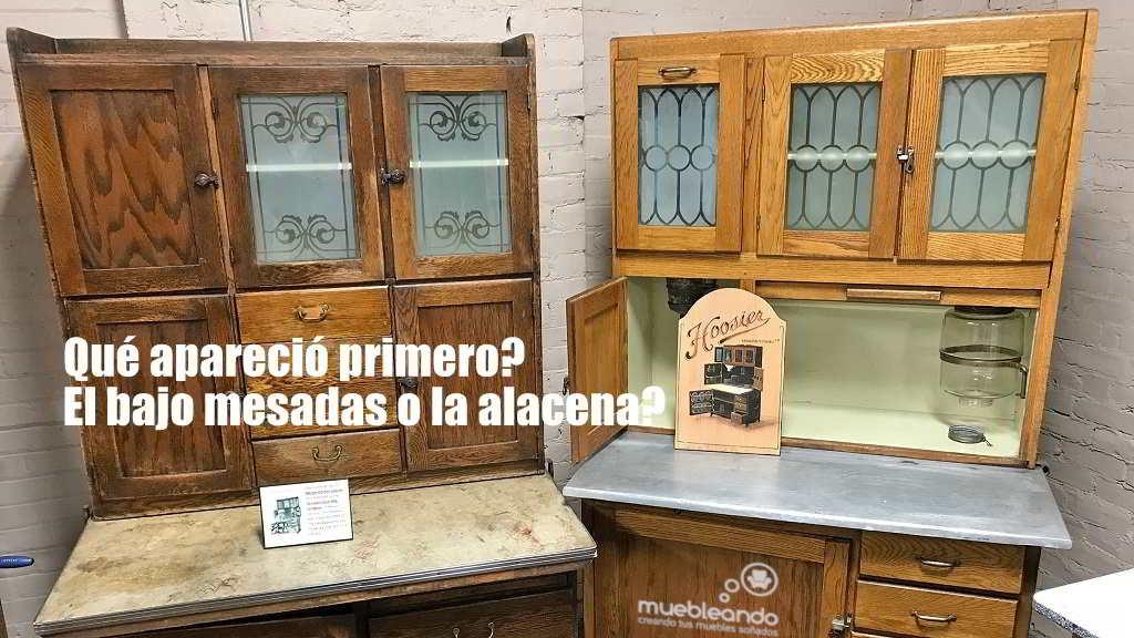 Bajo mesada y alacena historia de muebles de cocina
