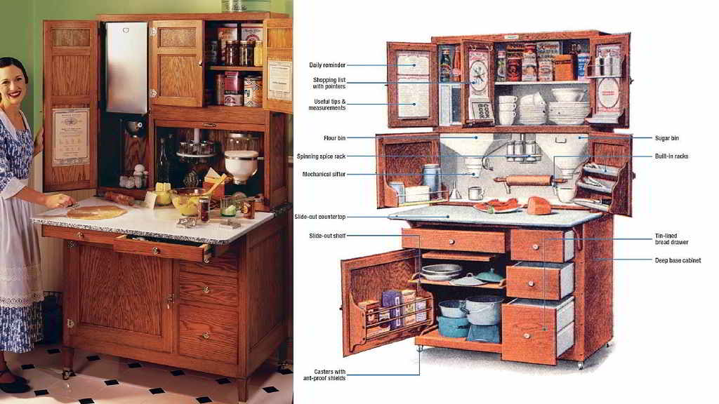 bajo mesada y alacena Hossier cabinets