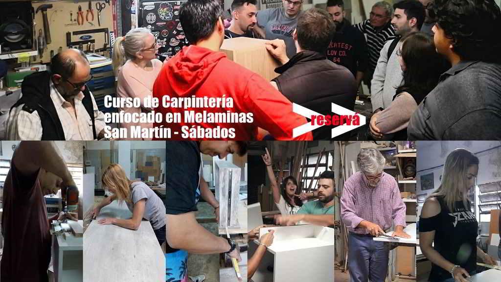 Curso para hacer muebles de melamina San Martín sábado