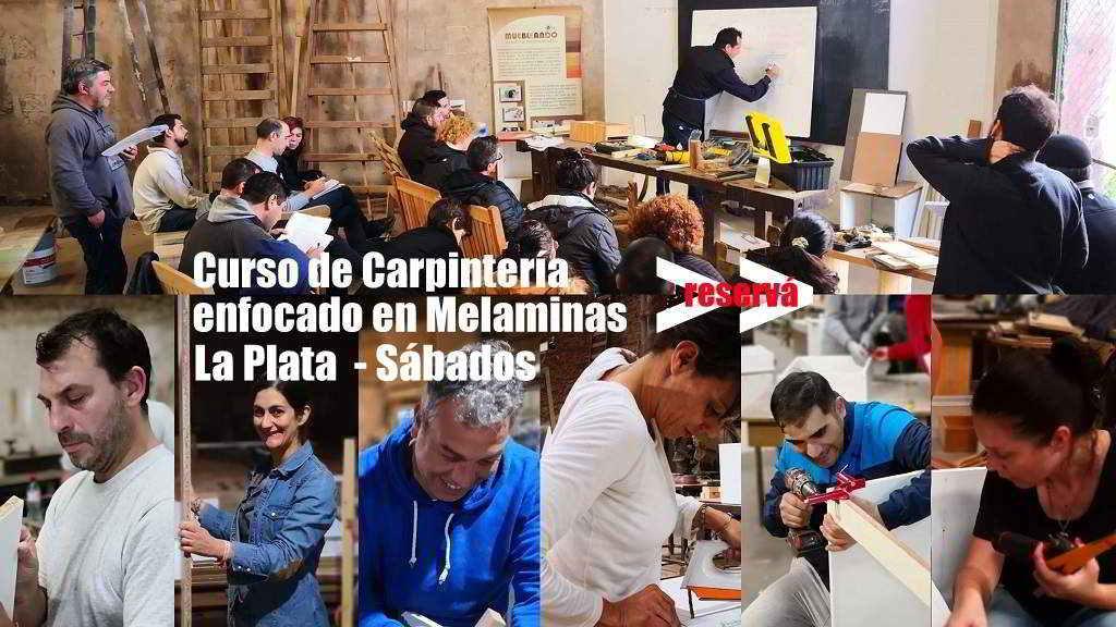 curso de carpintería en La Plata melaminas bajo mesadas y placards