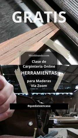 Clase de Herramientas de Carpintería en madera Gratis