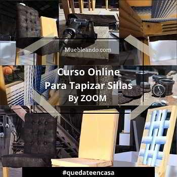Curso Online de tapicería para tapizar sillas via zoom