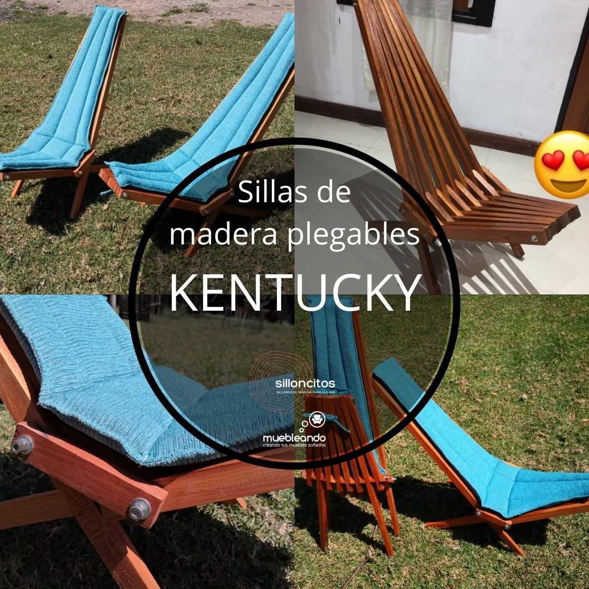 sillas de madera plegables Kentucky by Muebleando para vacaciones