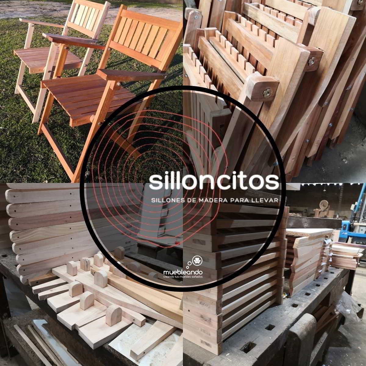 sillones de madera plegables silloncitos muebleando